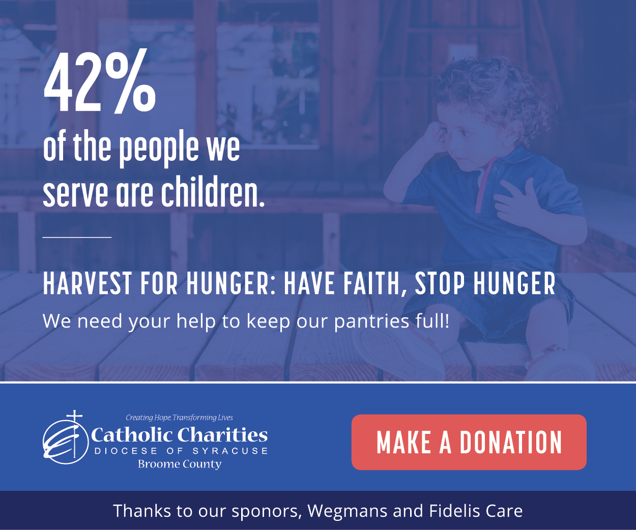 Harvest for Hunger Digital Ad 1