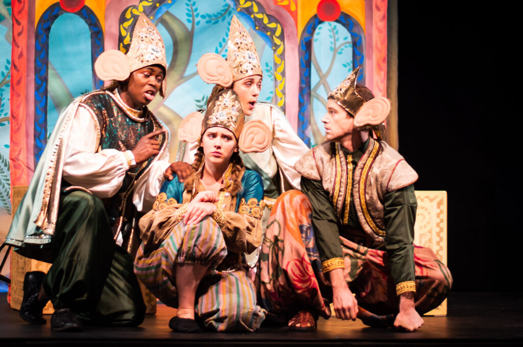 Stage shot of the Opera: Monkey and Francine in the City of Tigers