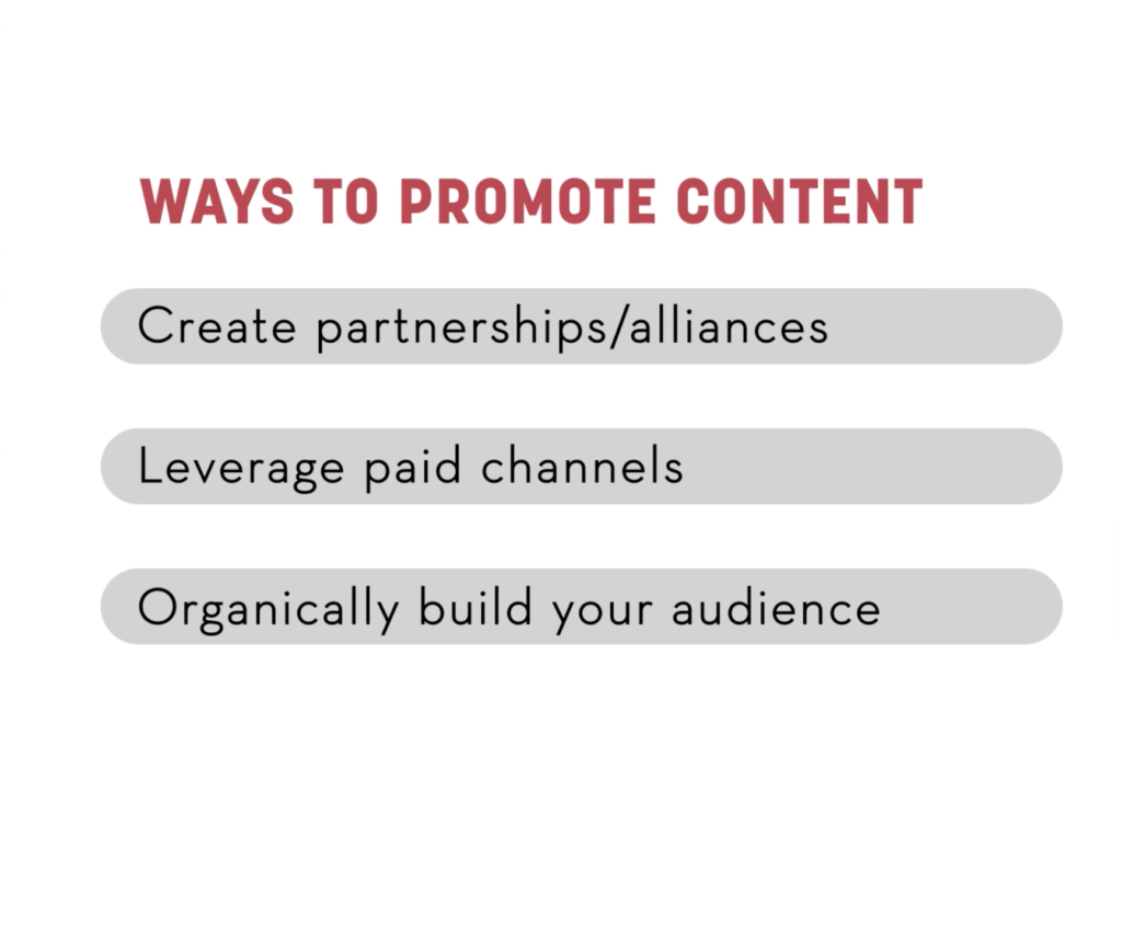 Ways to Promote Content